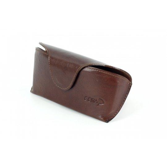 Kožené pouzdro na brýle GR04 - hnědé