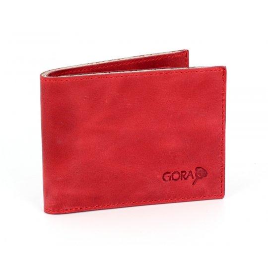 Kožená peněženka GORA slim G01 - červená