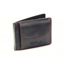 Kožená dolarovka GORA GR03 - černá/červená