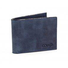 Kožená peněženka GORA slim G01 - modrá